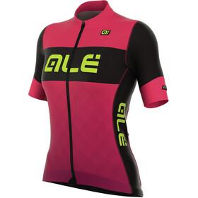 Alé Cycling R-EV1 Rumbles Kortärmad cykeltröja Dam pink/svart